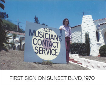 First sign on Sunset Blvd, 1970