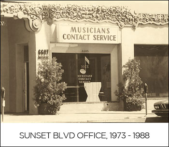 SUNSET BLVD OFFICE, 1973 - 1988