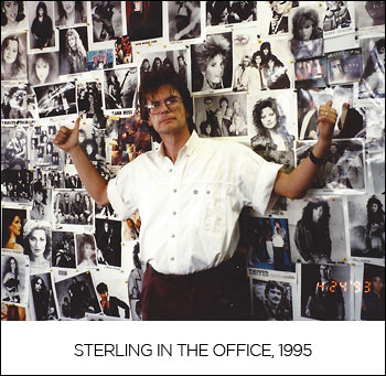 Sterling in the office, 1995